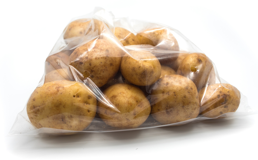 polyethylene bag for potatoes